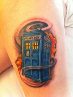 Image detail for -My Second Tattoo The Tardis From Dr Who