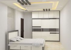 Shop for stylish bedroom furniture sets online from Scale Inch Bangalore. Delivery across Karnataka with easy payment options. Fall Ceiling Designs Bedroom, House Ceiling Design, Ceiling Design Living Room, Bedroom False Ceiling Design, Bedroom Cupboard Designs, Living Room Designs, Wardrobe Door Designs, Wardrobe Design Bedroom, Bedroom Closet Design