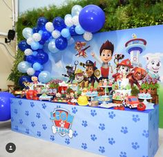 Thomas Birthday Parties, Boys First Birthday Party Ideas, Diy Birthday Banner, Birthday Party Tables, 2nd Birthday, Paw Patrol Birthday Decorations, Paw Patrol Birthday Theme, Paw Patrol Birthday Invitations, Diy Party Decorations