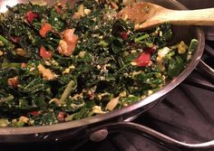 Chard & Kale With Bonito Flakes Recipe -  Very Delicious. You must try this recipe!