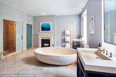 That tub! Sarah Jessica Parker's Master Bathroom - Sarah Jessica Parker's New York Townhouse - Photos