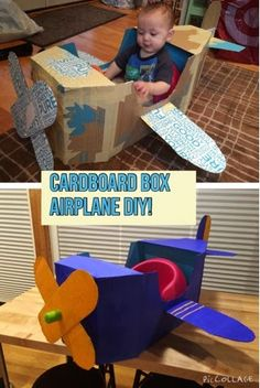 Anna Sundrud Trang: How To Build A Cardboard Airplane! DIY cardboard plane, diy airplane photo prop