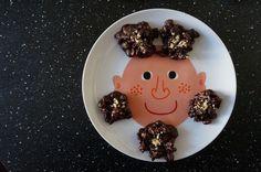 Rocas de chocolate con maiz y peta zetas