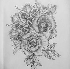 24 Ideas For Tattoo Sleeve Girly Tatoo Neue Tattoos, Arm Tattoos, Flower Tattoos, Body Art Tattoos, Tattoo Arm, 3 Roses Tattoo, Rose Tattoo Thigh, Lace Tattoo, Tattoo Flash