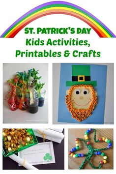 St. Patrick's Day Kids Activities and Crafts Roundup. A list of free printables, crafts & games including Leprechaun crafts, St. Patrick's Day Scavenger hunt & more fun ideas.