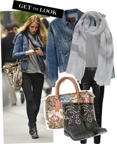 Blake Lively rocks the grungy casual look - she manages to look polished and put together in a tee!
