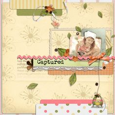 Captured - Scrapbook.com - Very sweet. #scrapbooking #layouts #digital