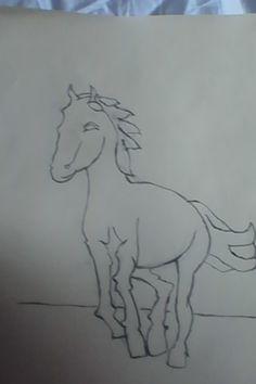 KPH - koník / drawing of right hemisphere - pony