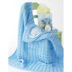 "Snail Blanket - Patterns | Yarnspirations ~ this is cute for a boy also - measures 30"" square ~ intermediate skill ~ FREE CROCHET pattern"
