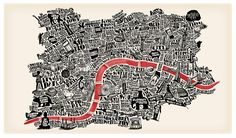 typographic london map - joao fonte