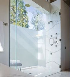LDESIGN: Beautiful Bathrooms  Love how it is so open, would want multi shower heads though.