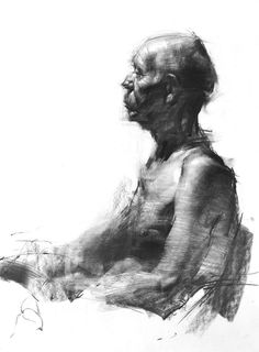 "Zin Lim - ""Figure#D02"", drawing, charcoal, 24 x 18 x 0.1 in, 2013."