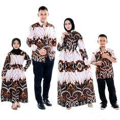 Setelan model baju gamis batik couple keluarga sarimbit kombinasi warna putih dan coklat terbaru Batik Couple, Kimono Top, Bohemian, Couples, Model, Tops, Style, Fashion, Swag