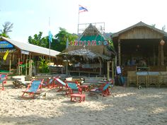 The Indian Bar on Khlong Dao Beach in Koh Lanta, Thailand. A perfect place to chill out with a cold drink after a day of adventuring. Find it on the beach at the front of Banana Garden Home Bungalows.