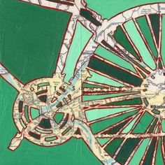 Bike Pittsburgh print - Pittsburgh, Pennsylvania bicycle art print