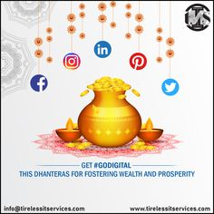 It's the right time to discard traditional marketing and #GoDigital for wealth and fortune. Happy Dhanteras...!!!  #happydhanteras #dhanteraswishes #Celebrations #festival #digitalmarketingagency #digitalworld #marketingagency