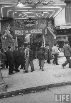 ΙΝΤΕΑΛ (πρώτη ονομασία ΣΑΛΟΝ ΙΝΤΕΑΛ) Πανεπιστημίου 36, έτη λειτουργίας: 1922- Χειμερινός Greece Pictures, Old Pictures, Old Photos, Vintage Photos, Athens History, Greece History, Greece Photography, History Of Photography, Athens City