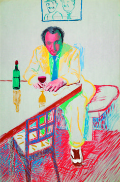 Portrait of Peter Langan in Los Angeles, David Hockney