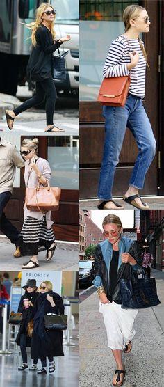 Ashley Olsen in Birkenstocks