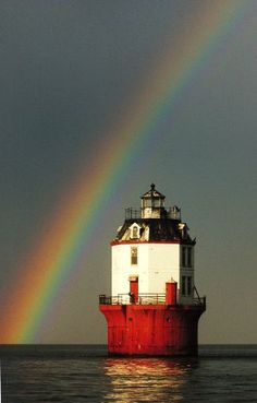 The Point No Point Lighthouse, Chesapeake Bay, Maryland, USA