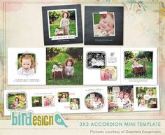 love this mini.....Accordion mini 3x3 | Blooming smiles | Photo cards templates and photographer resources by Birdesign
