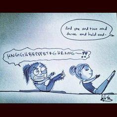 This is exactly how I felt tonight at #pilates.  I'm soooo tired lately :(