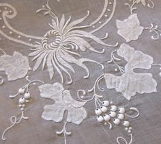 I have some lovely Madeira Table Linens listed this week. Both linen and organdy with beautiful embroidery. So pretty! This is a 17 piece se...