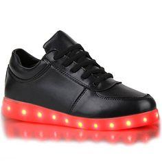 Blinkende Damen Herren Kinder Sneakers High Led Light Farbwechsel Schuhe LED Light - http://on-line-kaufen.de/stiefelparadies/blinkende-damen-sneakers-high-led-light-schuhe