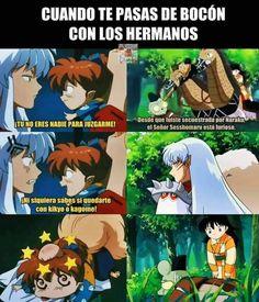 Manga Anime, Fanarts Anime, Otaku Anime, Anime Naruto, Inuyasha Love, Inuyasha And Sesshomaru, Inuyasha Memes, Seshomaru Y Rin, Butler Anime