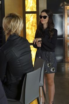 Pin for Later: While You Were Distracted by the Drama on Pretty Little Liars, We Were Looking at the Outfits  Jenna is back! And showing us a cute way to wear sequins during the day.