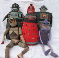 Gang of Robot Pillows: They look like they mean business.