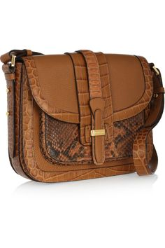 Gia Saddle leather and python shoulder bag, Michael Kors. MK is seriously the master designer of handbags