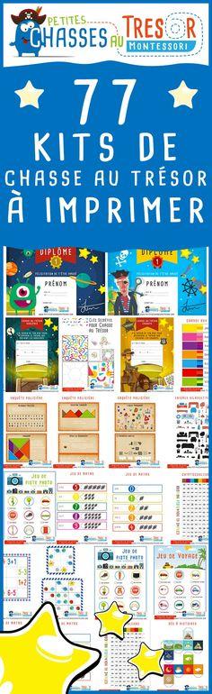 Kits chasse au trésor pour enfants à imprimer gratuitement. Des activités pour enfants à imprimer. 4 Kids, Diy For Kids, Crafts For Kids, Children, Games For Kids, Activities For Kids, Abc Games, Birthday Games, Kids Corner