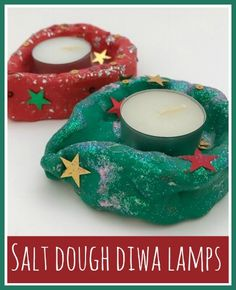 Salt Dough Lamps : Diwali Edible Crafts Diwali, Food Ideas and Artsy