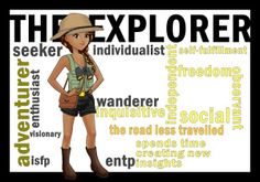 Today's character archetype is one of the twelve Jungian archetypes but also a common archetype if you have explored the Myers-Briggs or Enneagram personality types. The explorer can be found in ma… Carl Jung Archetypes, Jungian Archetypes, Brand Archetypes, Personality Descriptions, Personality Types, Wolf Book, Book Characters, Fictional Characters, Entp