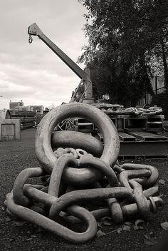 The Quays in Salford Salford, Metal Chain, Blacksmithing, Spaces, Explore, Blacksmith Shop, Blacksmith Forge