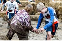 Make mud pits:  We'll also have real med kits in case you need a Band-Aid, ice pack, or a tourniquet to cut off the blood flow after you've lost a limb to zombie!  ZOMBIES cannot enter the ZOMBIE FREE ZONES around the outposts. We also have found a group of mercenaries (volunteers) who believe they can kill Zombies (or at least stun them). We like to call them ZOMBIE HUNTERS and we've armed them with special Zombie stunning guns (who knew Zombies could be held at bay by NERF guns?