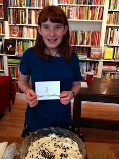 K at the Omnivore Books pudding contest
