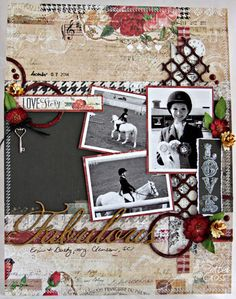 8 1/2 x 11 layout using the new Blue Fern Studios Love Story Collection and February sketch.