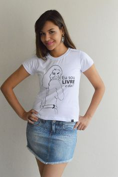 Camiseta Baby Look Leila Diniz