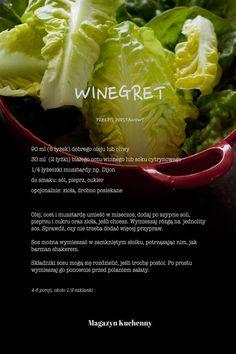 Vinaigrette, Lettuce, Dips, Cabbage, Salads, Vegetables, Recipes, Food, Ww Recipes