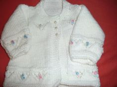 Baby Jacket - Knitting creation by mobilecrafts Knitting Daily, Knitting For Kids, Baby Knitting, Crochet Baby, Knit Crochet, Knitted Baby, Baby Patterns, Knitting Patterns, Baby Sweaters