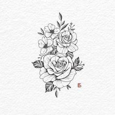 Mini Tattoos, Cute Tattoos, Body Art Tattoos, Small Tattoos, Modern Tattoos, Tatoos, Cross Tattoos, Beautiful Tattoos, Floral Tattoo Design