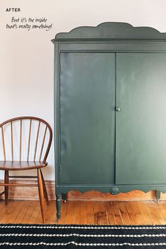 DIY Striped Painted Armoire, Shaded Fern by Glidden®