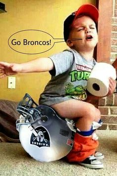 The dream of any young Broncos fan...