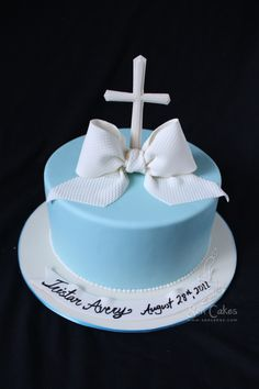 boy baptism cake with quilting Simple Baptism Cake, Boys First Communion Cakes, Cross Cakes, Cake Story, Religious Cakes, Baptism Party, Boy Baptism, Biscuits, Caking It Up