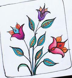 Zenspiration inspired floral doodles in my art journal, using Sakura Micron pens and colored pencils. Scratchboard Art, Doodle Designs, Doodle Patterns, Zentangle Patterns, Doodle Inspiration, Doodle Ideas, Floral Doodle, Doodle Art Journals, Doodle Coloring