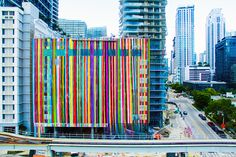 the artist has installed a vibrant, 40,000 square foot mural at the soon-to-be completed SLS brickell hotel and residences.