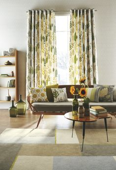 Mid-Century Living Room: Surya Rugs Harlequin Rug in Flint Gray/Brindle/Ivory