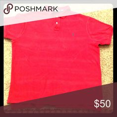 Polo by Ralp Lauren Red Polo / Size XXL Need a new polo shirt for your next casual occasion? Well make an offer for this lightly worn, ready-to-wear Ralph Lauren polo short. This 100% cotton red shirt can go well with your khakis and Cole Haans to top off the #perfectoutfit Polo by Ralph Lauren Shirts Polos